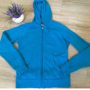 Nike teal medium blue zip up hoodie